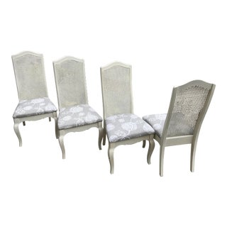 French Cane Back Dining Chairs- Set of 4