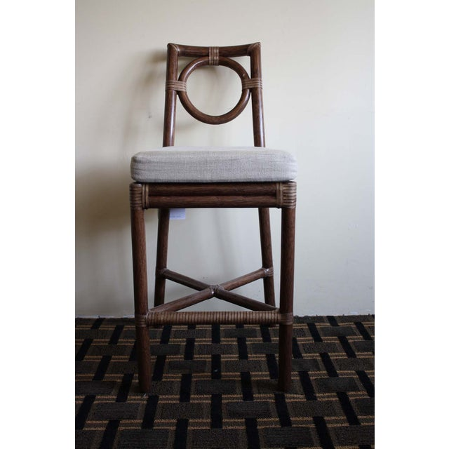 Image of McGuire Thomas Pheasant Round Back Counter Stool
