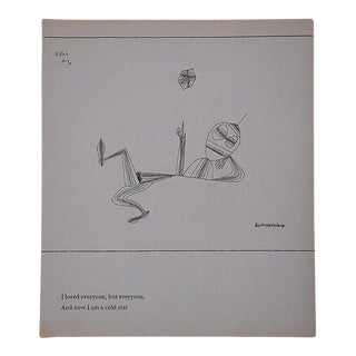 Mid 20th C. Abstract Lithograph-Paul Klee