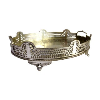 Ornate Silver Perfume Vanity Serving Tray