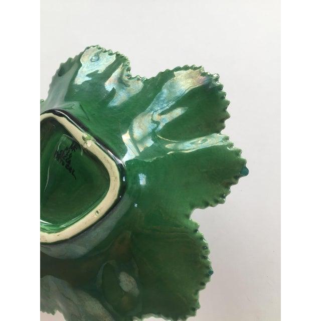 Vintage Portuguese Majolica Leaf Plate - Image 9 of 10