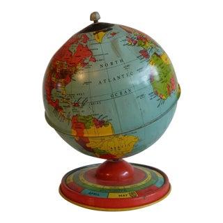 Chein & Co 1940's Vintage Metal Tin Globe