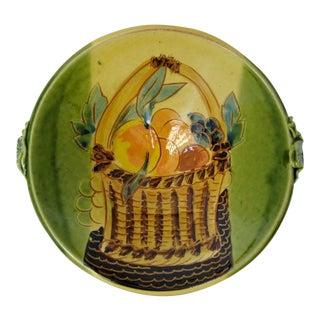 Provençal-Style Fruit Basket Motif Ceramic Bowl
