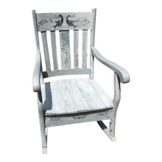Rustic Hand Painted Rocking Chair