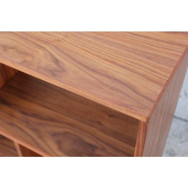 Modern Walnut Bookcase Shelf - Image 6 of 10