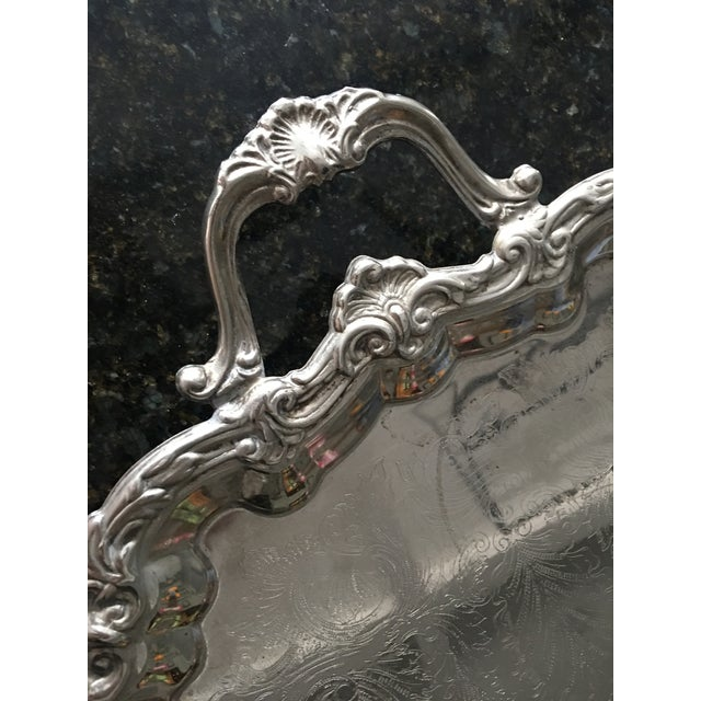 Silver Plate Victorian Footed Buttler's Tray - Image 6 of 8