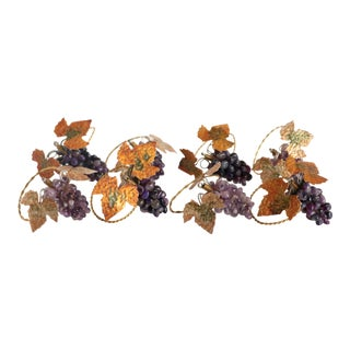 Amethyst Stone Grape Napkin Rings - Set of 8