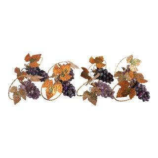 Amethyst Stone Grape Napkin Rings - Set of 8