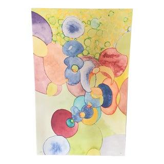 Large Scale Bubbles Contemporary Canvas