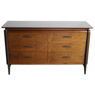 Mid-Century Projection Six Drawer Dresser