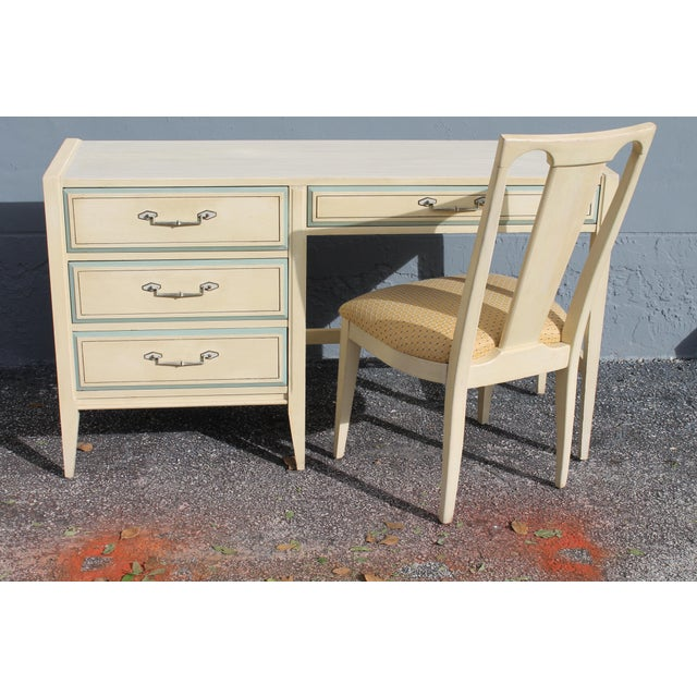 1960s Vintage Mid Century Modern Writing Desk & Chair - Image 2 of 10
