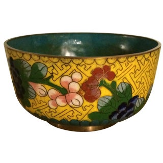 Cloisonné Bowl in Yellow & Blue