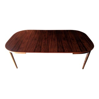 Danish Rosewood Expanding Dining Table with 2 leaves