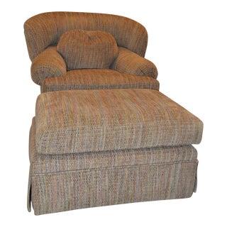 Swivel Club Chair and Ottoman
