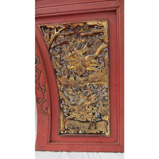 Pair of Asian Door Fragments - Image 4 of 5