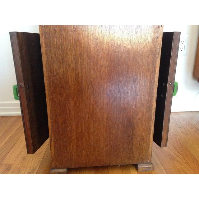 Image of Oak Side Table With Deco Bakelite Handles