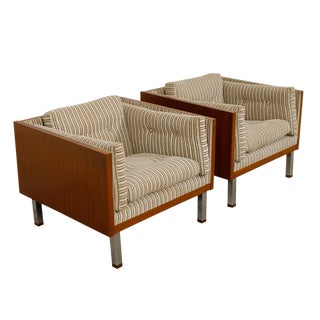Jydsk of Denmark Interform Collection Teak Case Chairs - a Pair