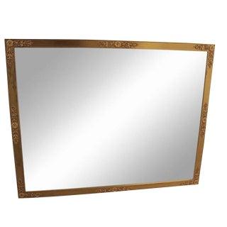 Metal Gold Gilt Rectangle Mirror