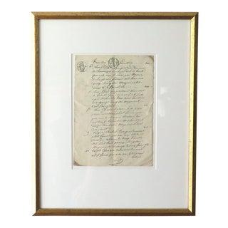 Antique French Farmer's Transcript