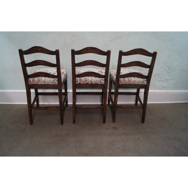 Guy Chaddock Ladder Back Bar Stools - Set of 3 - Image 4 of 10