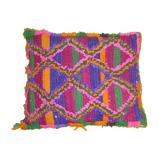 Moroccan Sham with Pink & Purple Diamonds