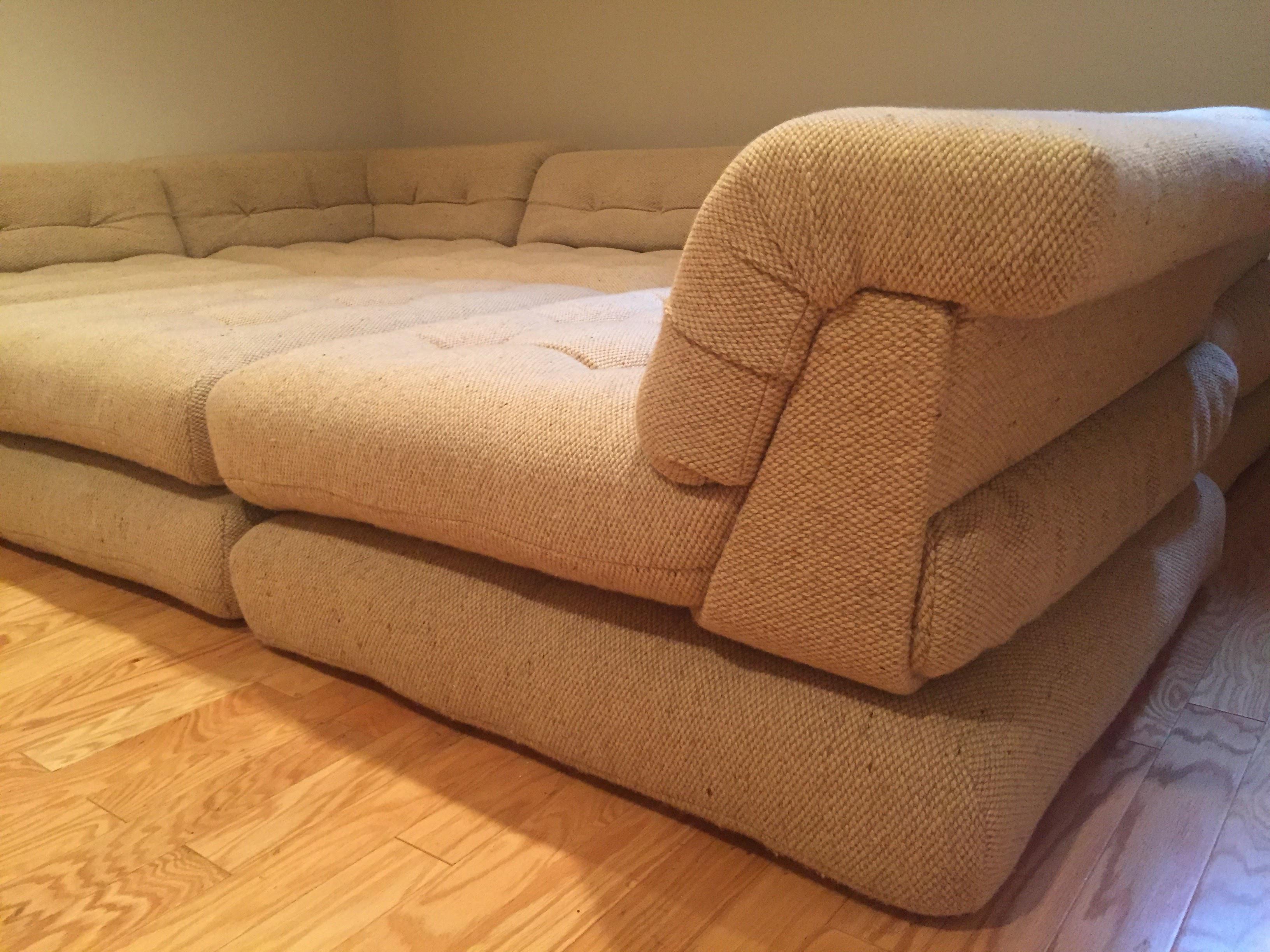 image of piece roche bobois mah jong vintage hans hopfer sofa set