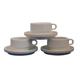 Mid-Century Modern Rosenthal Espresso Cups & Saucers Set of 3