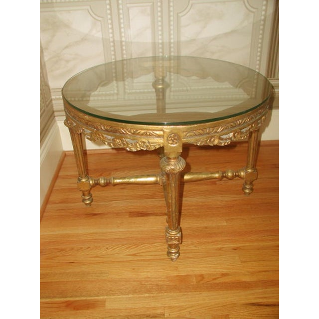 French 19th C. Hand Carved Gilt Coffee Table - Image 2 of 10
