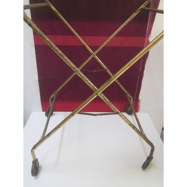 Image of Black Vintage Rolling Bar Cart