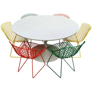 Harry Bertoia Tulip Dining Set