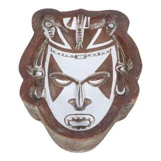 Società Anonima Ceramiche Zaccagnini Ceramic 'Tribal' Mask Dish