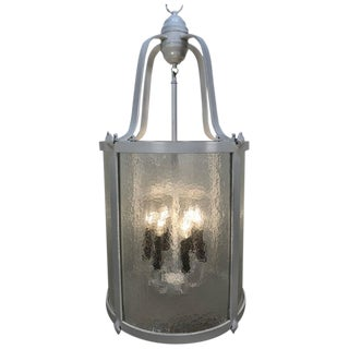 Hollywood Regency White Lacquered Lantern