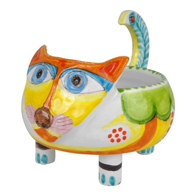 Mid-Century DeSimone Ceramic Cat Bowl - Image 1 of 8