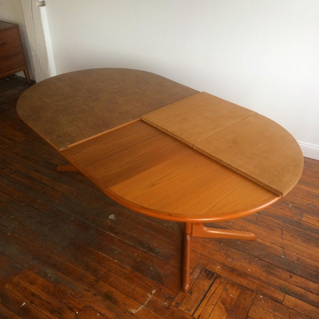 danish modern expandable dining table by skovby chairish