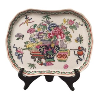 Chinoiserie Porcelain Hand-Painted Plate