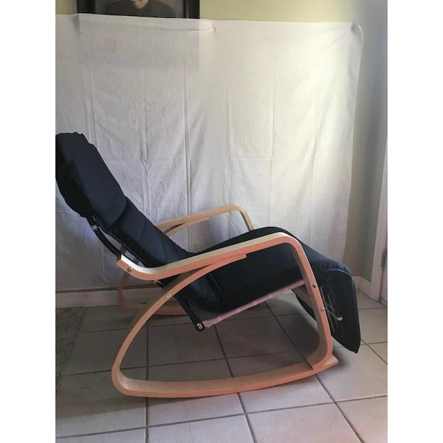 Lounge Chair Bentwood, Rocker With Adjustable Footrest - Image 4 of 7