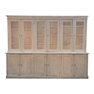 Antique French Provincial Hutch & Buffet From Early 1900's