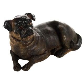 19th Century Sitting English Bulldog Pottery