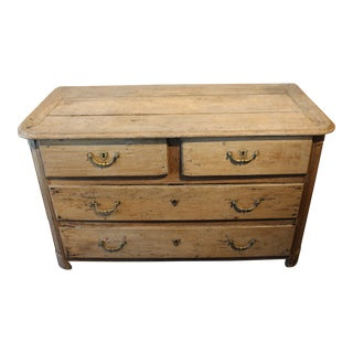 Late 18th Century Oak 4 Drawer Commode