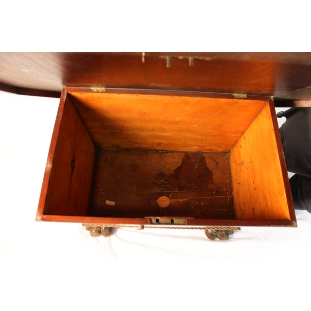 Image of Claw Foot Treasure Chest Coffee Table