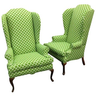 Green Bamboo Wingbacks - A Pair