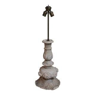 1920 Italian Alabaster Neoclassical Table Lamp