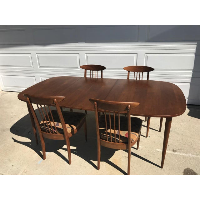 Image of Lenoir Broyhill Mid-Century Modern Dining Set - Table & 4 Chairs