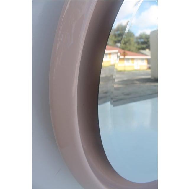 Vintage Ceramic Round Beveled Wall Mirror - Image 10 of 10