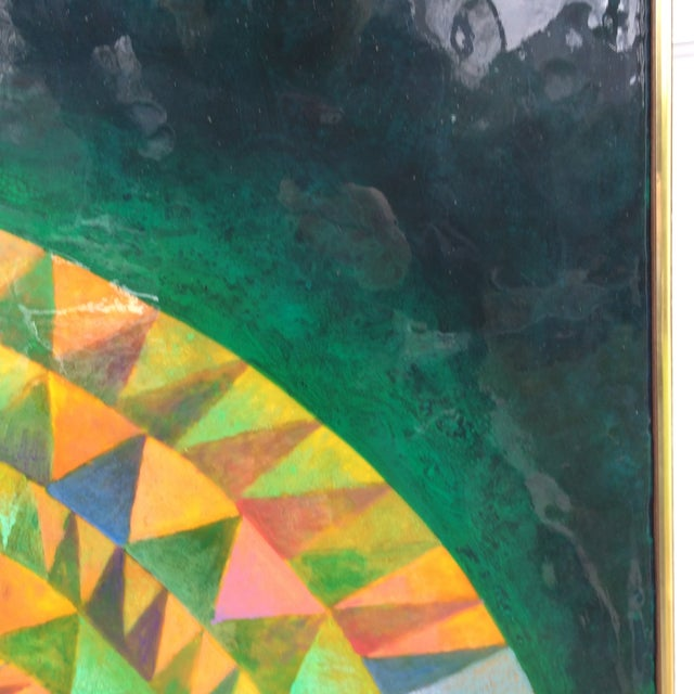 Large Mid-Century Modern Abstract Painting - Image 5 of 12