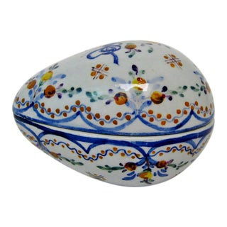 Vintage Portuguese Faience Container