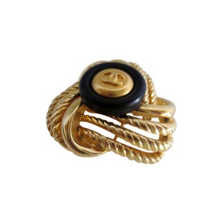 Authentic Chanel Button Brooch
