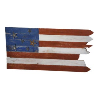 Salvage Wood American Flag
