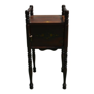 Antique Wooden Spindle Nightstand