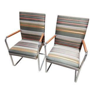 Brayton Switch Sled Base Guest Chairs - A Pair